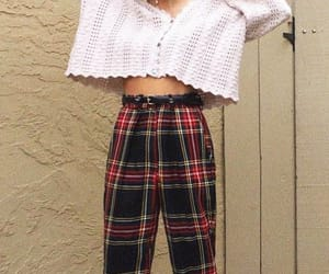 fashion, red, and plaid pants image