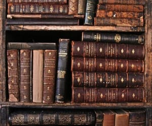 book, vintage, and brown image