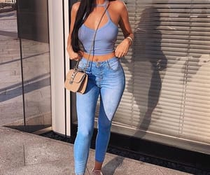 beauty, blue, and jeans image