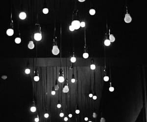 light, black and white, and grunge image