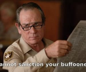tommy lee jones and buffoonery image