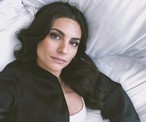 black, bed, and brunette image