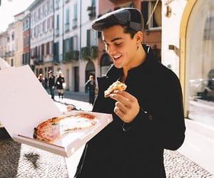 grayson dolan, dolan twins, and pizza image