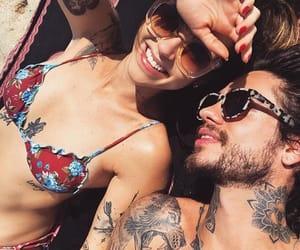 bikini, glasses, and couple image