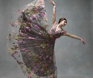 ballerina, dance, and flower image
