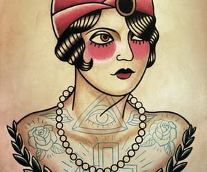 tattoo, flash, and americana image