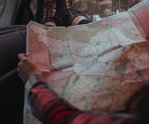 car, map, and Road Trip image