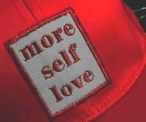 red, self love, and love image