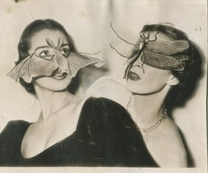 vintage, bat, and mask image