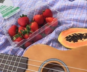 aesthetic, strawberry, and food image