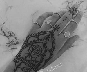 henna, rose, and rosetattoo image