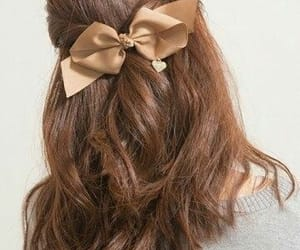 aesthetic, bow, and brown image