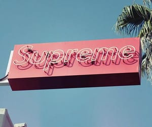 pink, supreme, and teal image