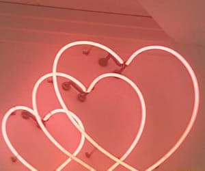neon, heart, and hearts image