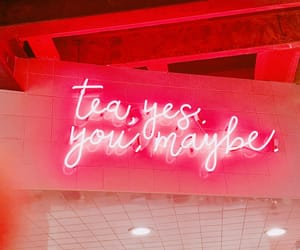 neon, tea, and pink image