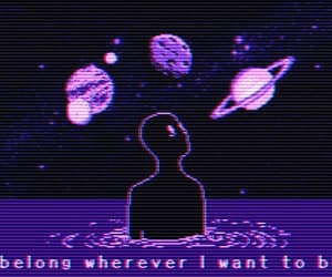 purple, alien, and aesthetic image