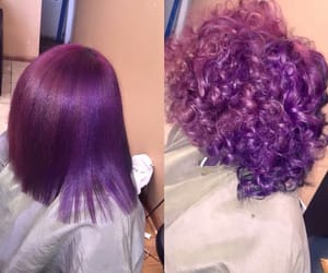 curly hair, hair, and purple image