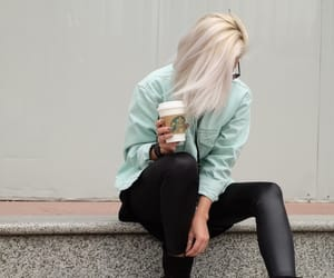 starbucks coffee shop, blonde brunette girl, and store shopping luxury image
