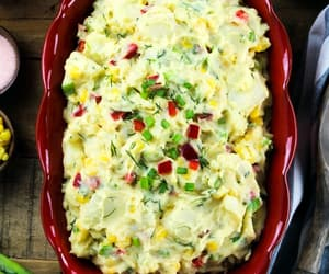 food, potato salad, and recipe image