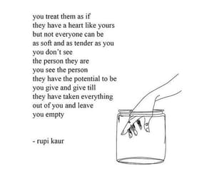 quotes, rupi kaur, and heart image