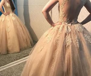 ball gown, prom dress, and quinceanera dress image