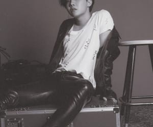 jhope, bts, and black and white image