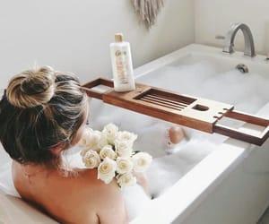 bath, girl, and hair image