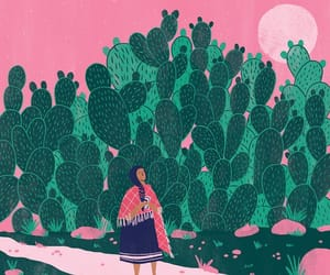 cactus, green, and mexican image