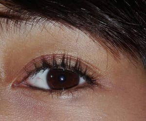 beautiful, brown eye, and eye image