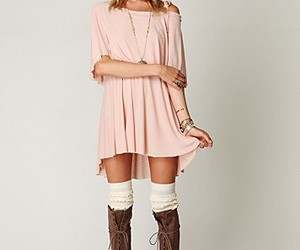 fashion, boots, and blonde image