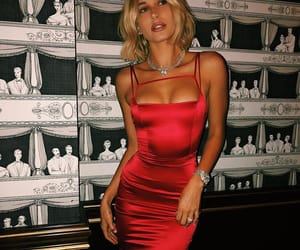 beautiful, girl, and red dress image