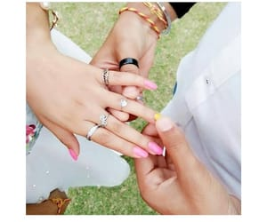 engaged and love image