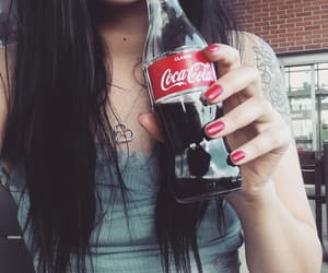 cocacola, kiss, and rednails image