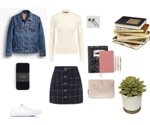 books, clothes, and jean image