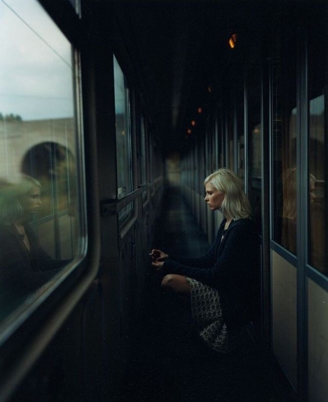 train, aesthetic, and dark image