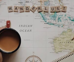 coffee, wanderlust, and map image