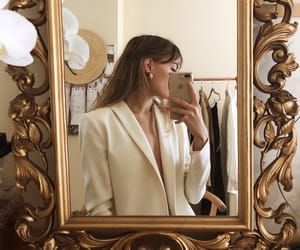 fashion, gold, and mirror image