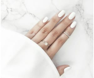 white, nails, and rings image