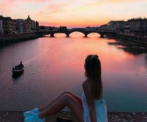 girl, outfit, and sunset image