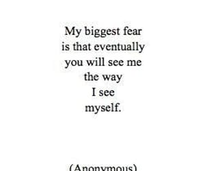quotes, fear, and sad image