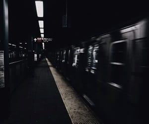 grunge, train, and dark image