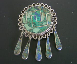 turquoise pendant, etsy on sale, and sterling brooch image