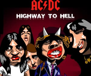 ACDC, highway to hell, and angus young image