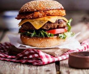 burger, beef, and cheeseburger image