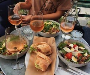 food, drink, and salad image