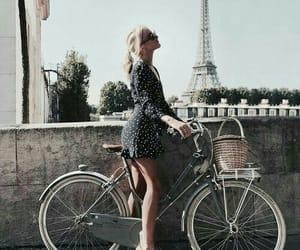 girl, bike, and paris image