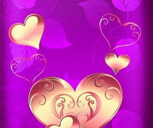 hearts, gold heart, and gold heart wallpapers image