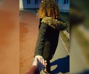 girl, handshake, and boy image
