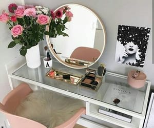 decor, home, and makeup image