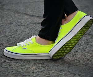 vans, shoes, and yellow image